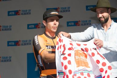 Cowan wins the KOM jersey at the Tour of Alberta © CBG Photography