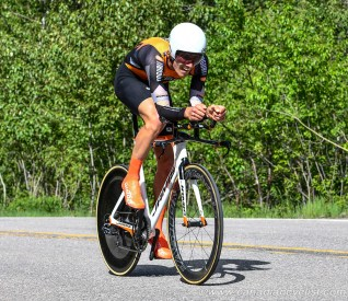 Adam Roberge won the U23 title for the second year in a row. pic: Rob Jones / canadiancyclist.com