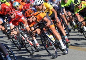 Criterium races can be rough and tumble, high speeds and close quarters