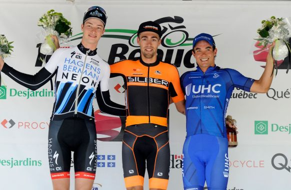 Emile on the podium at Beauce ©VeloImages
