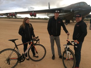Caro, Yohan and Gord on standby with our Jamis Bikes