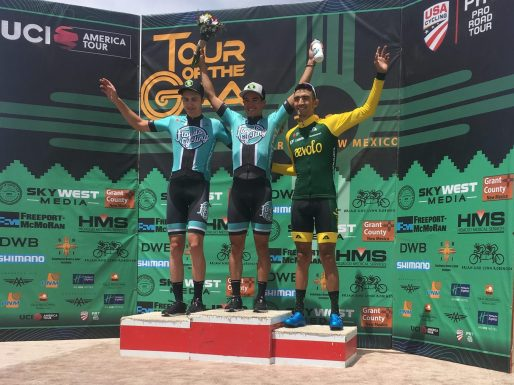 Travis and Nick on the podium after Stage 2
