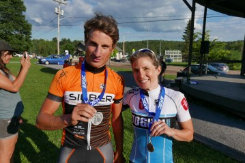 """""""Masbou"""" (Nicolas Masbourian) hanging out with Michelle Paiement after the Quebec Provincial Championships"""