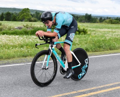 Stage 3a: Zuke holds onto Yellow after stg 3a TT by finishing 9th © canadiancyclist.com