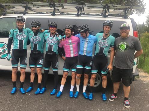 Alec Cowan wore Leader's jersey after Stage 1 at Cascades Cycling Classic