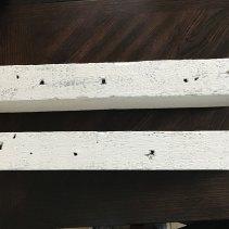 Rustic white floating shelves