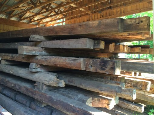 Reclaimed logs from the Old Harman Mill Residence, Floyd, VA, ca. 1790