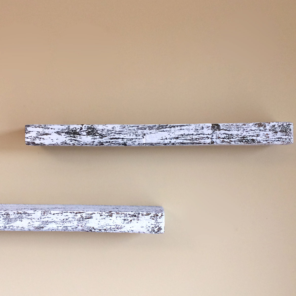 """Rustic White"" Floating Shelf, Reclaimed Weathered Oak Barn Wood, 24"" x 5"" deep"