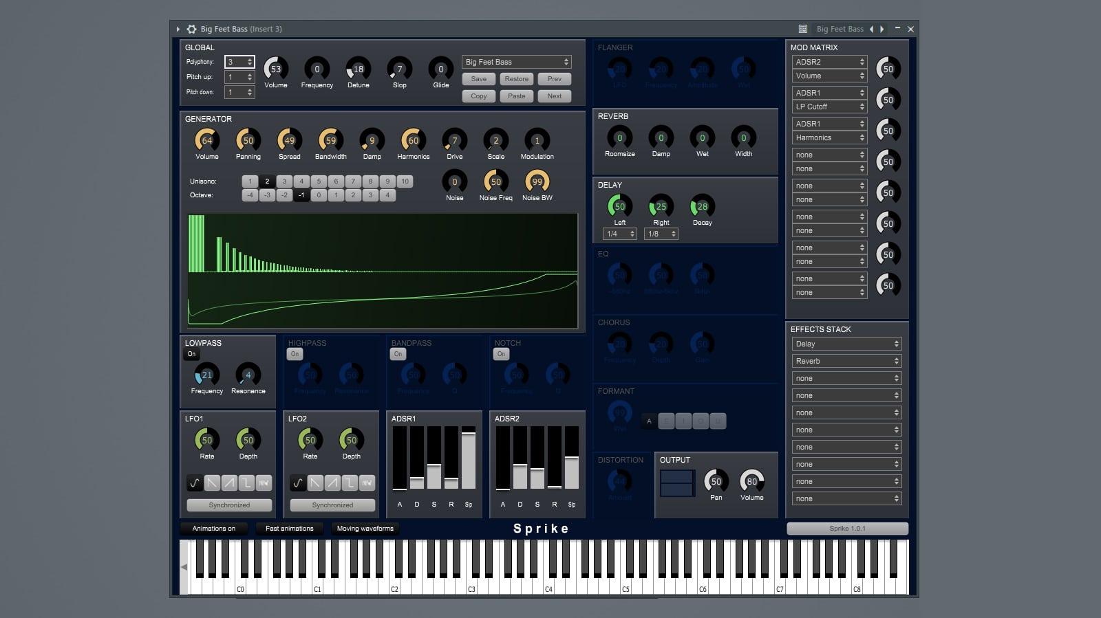 free sprike synthesizer instrument