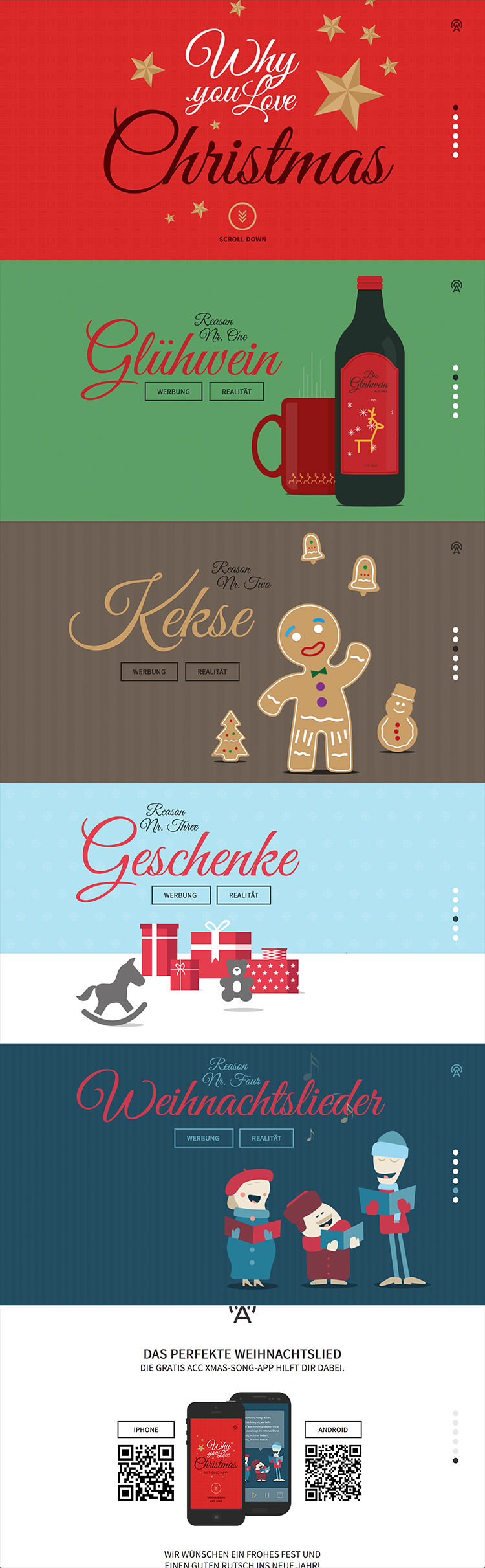 Why you love Christmas an example of flat ui design