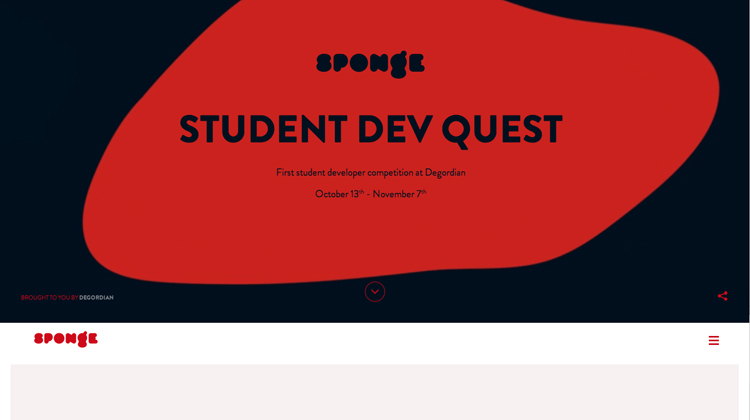 Sponge – Student Developer Competition