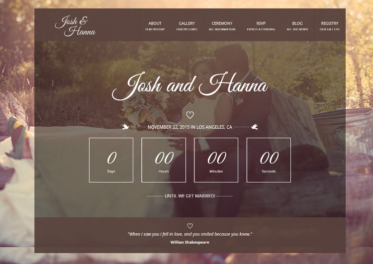 Aimer wedding theme for lovers