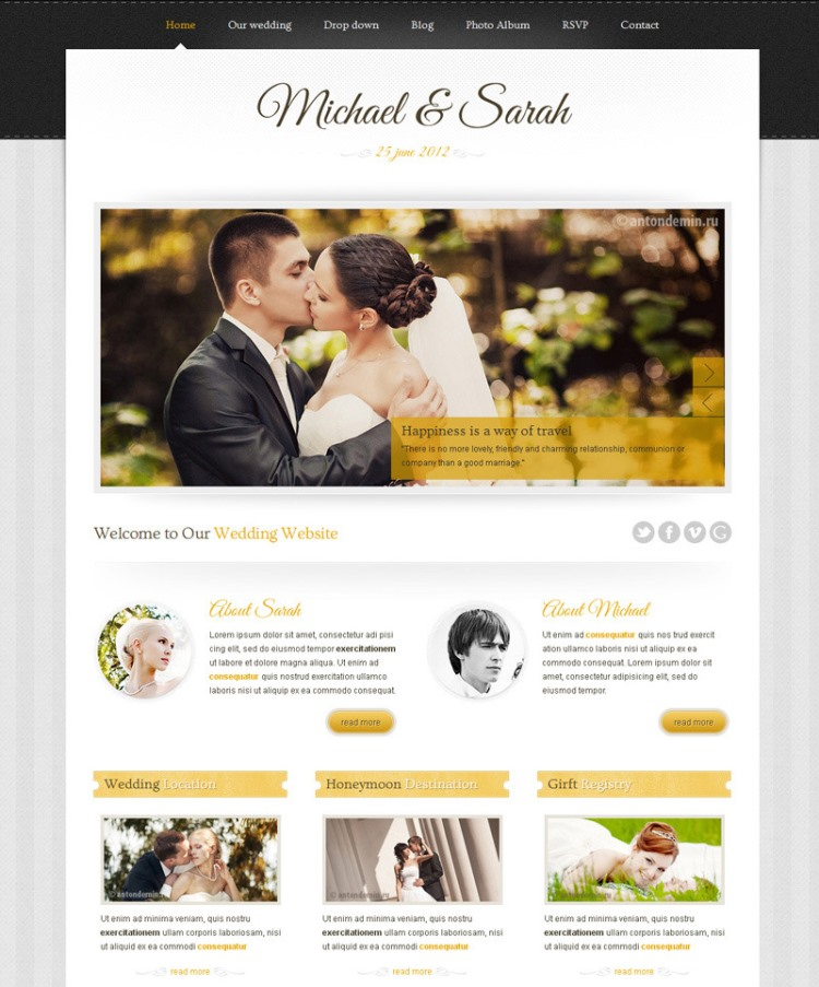 Marriage clean themeforest template