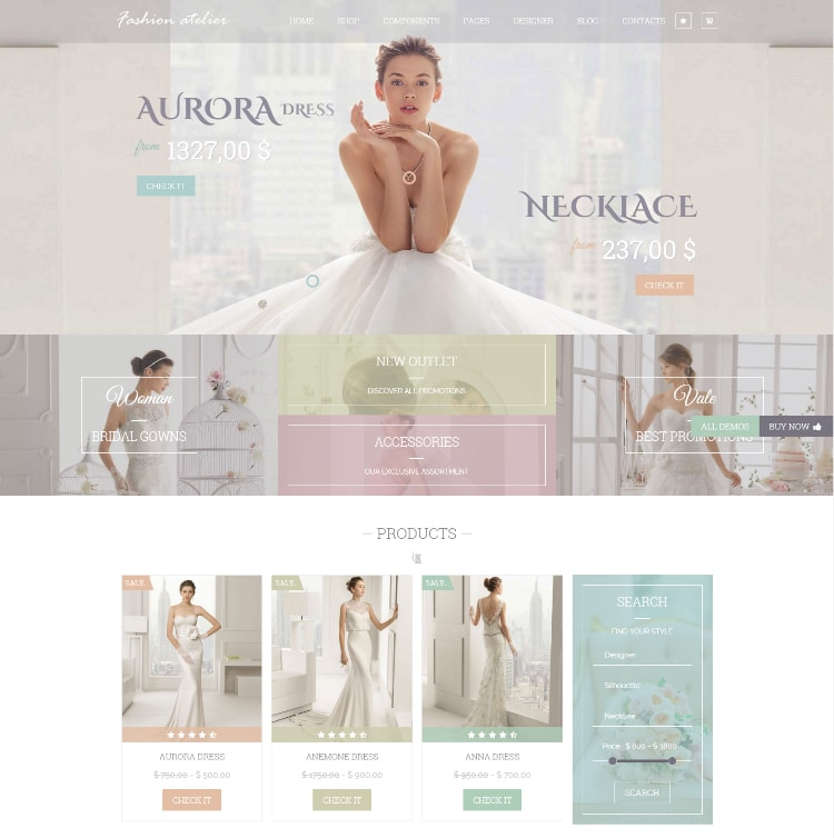 Wedding love e-commerce theme