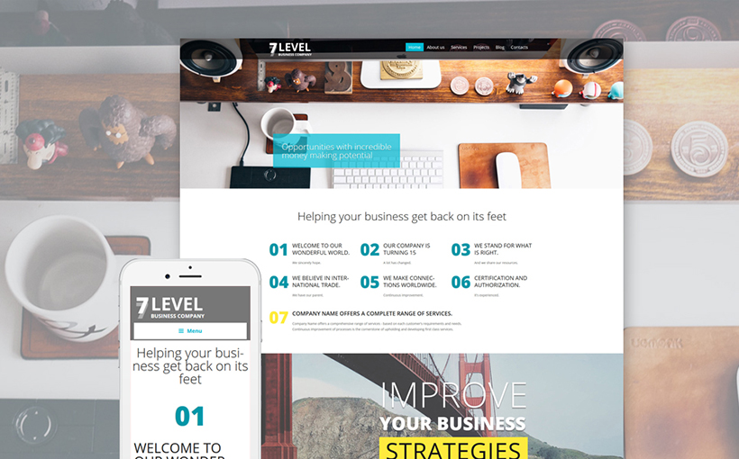 Businss Flat WordPress theme