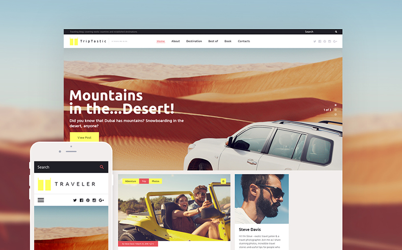 Travel wordpress template