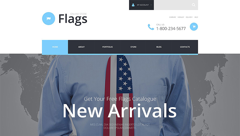 Flags template responsive