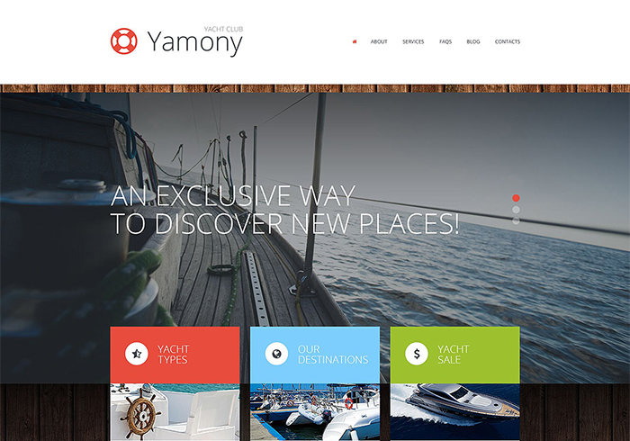 Boating WordPress Theme