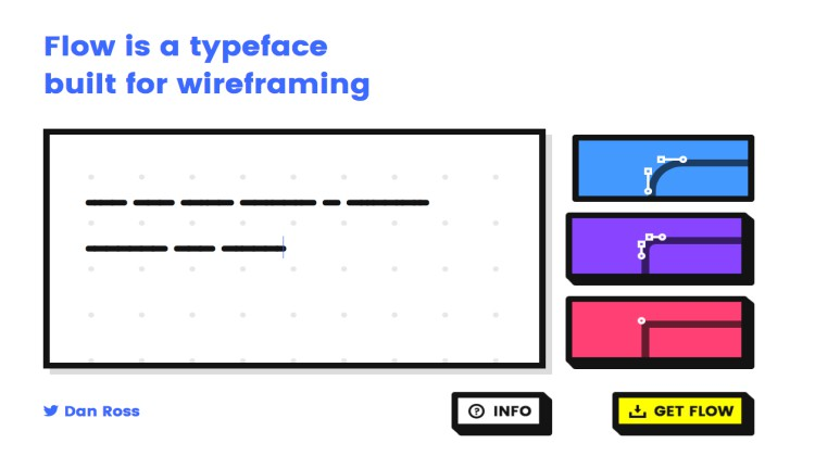 Flow – Typeface for Wireframing