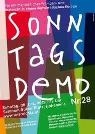 Plakat Sonntagsdemo 28