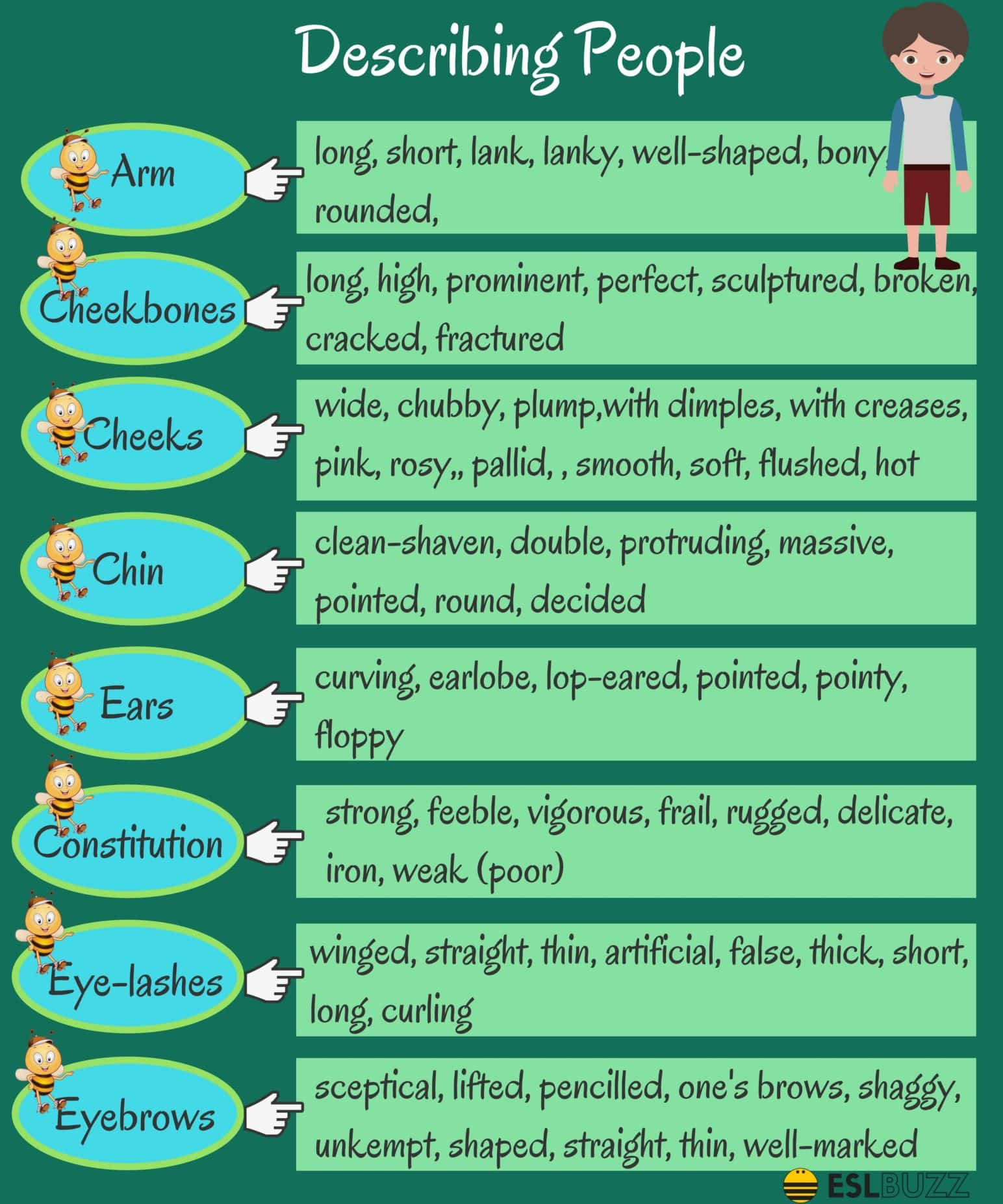 Common Adjectives In English 1 List Of Adjectives For
