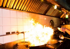 kitchen exhaust systems island work station do's and don'ts for putting out a grease fire | flue steam