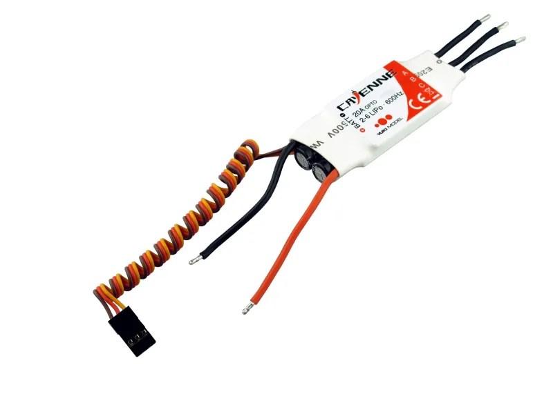 4103220 YUKI Model CAYENNE BL-ESC 20A 600Hz Opto