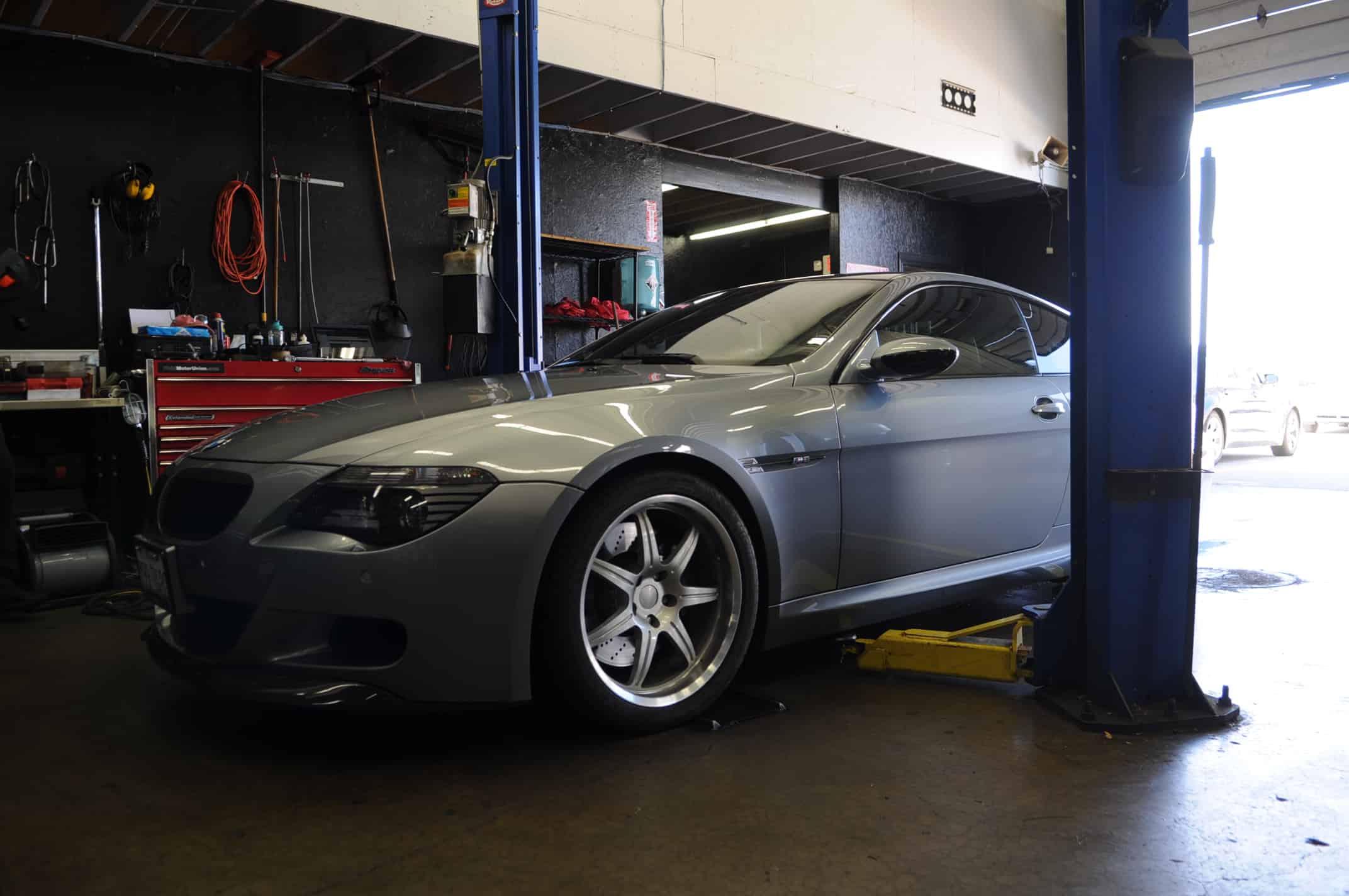 BMW M6 Dinan Muffler Install Luxury European Service