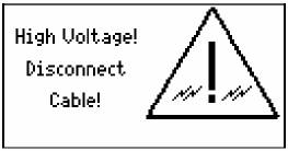 Network Cable High Voltage Warning