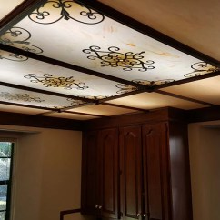 Kitchen Fluorescent Light Covers Design Plans & Decorative Ceiling Panels [200 ...