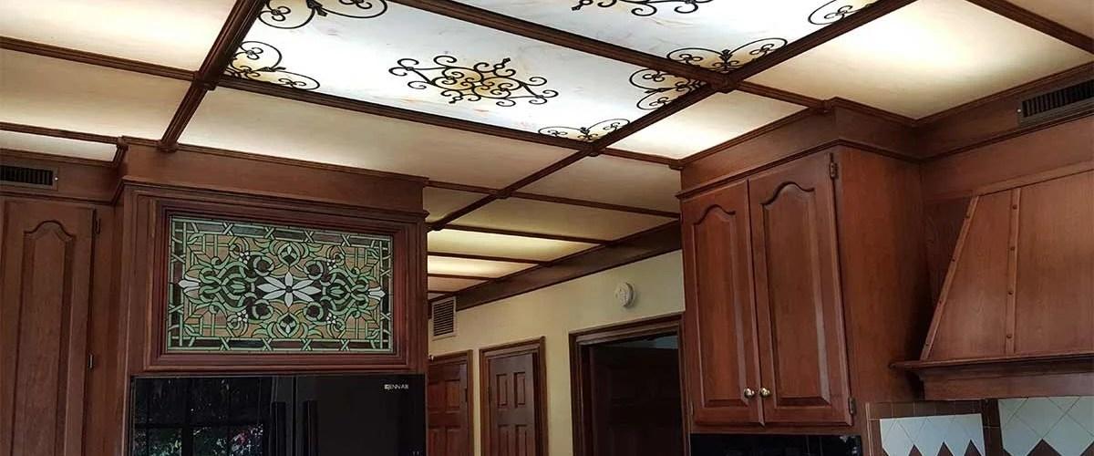 decorative fluorescent light panels kitchen  Home Decor