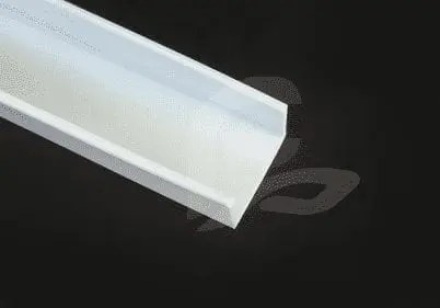 f-2082 white downwards plastic acrylic wrap around light cover or diffuser fluorescent