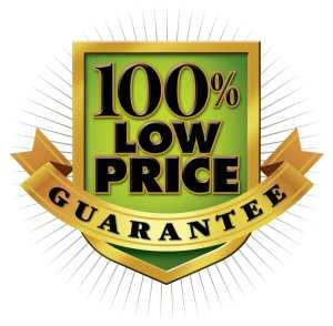 100 percent low price guarantee