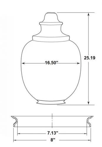 """acorn globe 25"""" height diagram light cover diffuser street light"""