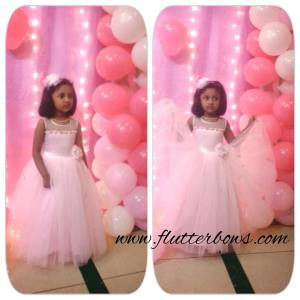 baby pink party wear for girls