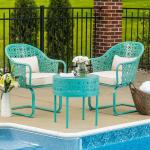 Modern Garden Patio Bistro Set Home Inspirations 3 Piece Patio Bistro Set Under 100