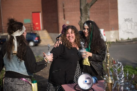 Flux-a-Thon lead organizers, Carina Kaufman, Oriana Leckert and Caroline Partamian.