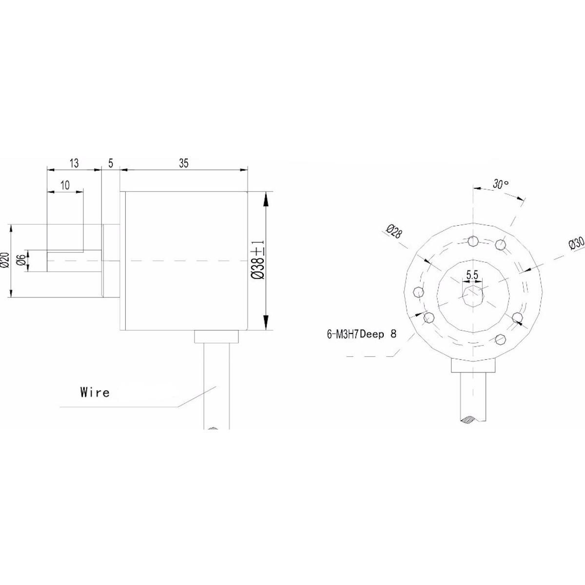 400BM Rotary Encoder Module LPD3806 360 6mm Shaft Arduino
