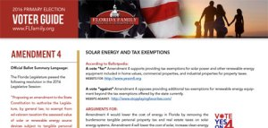 Florida Family Policy Council Amendment 4 Voter Guide