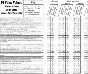 2016 Walton County FL Primary Voter Guide Image