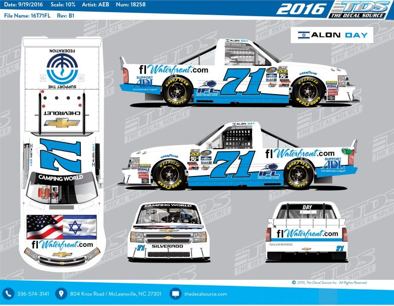 First Israeli Driver to Compete in NASCAR Camping World Truck Series