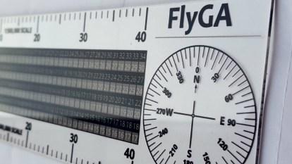 Aviation Student PPL Diversion Ruler