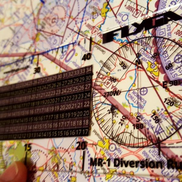 Mr-1 Diversion Ruler (Plotter, Nautical Mile Ruler) - Free Compass Rose Stickers