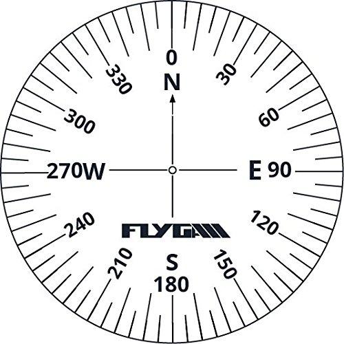 Compass Rose Flight Stickers (12 Pack) - Flight Equipment for PPL