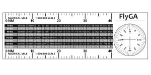 Fly GA MR-1 Flight Diversion Ruler PPL Navigation