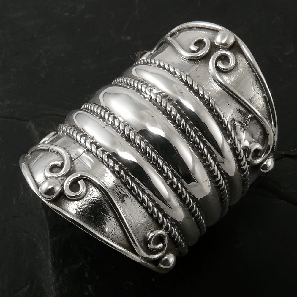 Silver Ring  Medieval Ornaments Rings Rings for Women Wide Rings