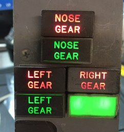 red lights indicate gear in transit or abnormal condition green lights indicate gear down and [ 2448 x 3264 Pixel ]