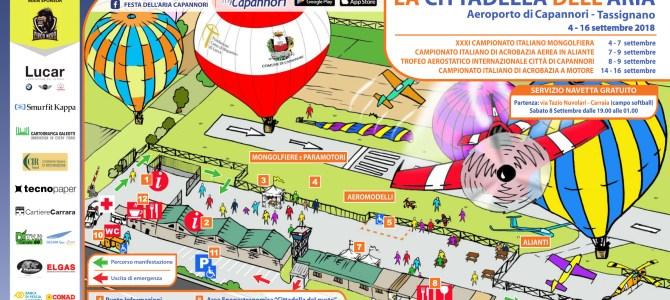 Mappa e programma Festa dell'Aria 2018
