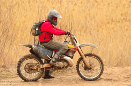 person on dirt bike