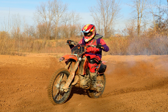 rider on dirt bike